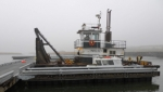 The rugged boat docks at St. Paul are constructed from galvanized steel and timber