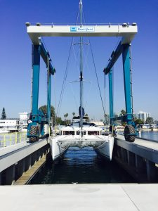 The three new travelift piers have 35-ton, 100-ton and 135-ton capacities enabling the marina to service large fishing vessels and catamarans.