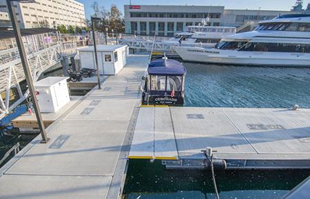Flagship Cruises floating terminal