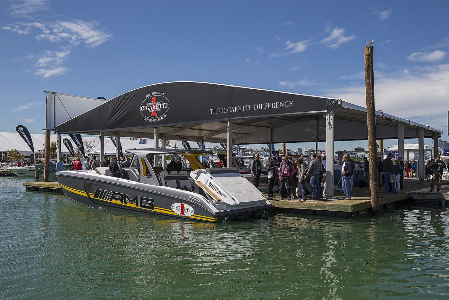 Temporary dock system built for miami international boat show - Miami boat show ...