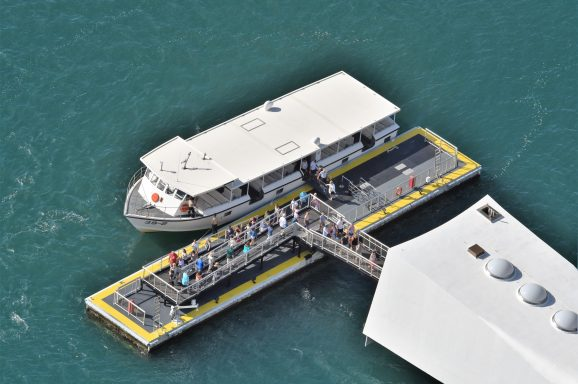 USS Arizona Ferry Landing Float