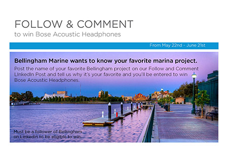 Share your Favorite Bellingham Marine Project on LinkedIn and Win Bose Headphones