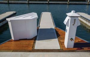 Rounded Finger ends, smart dock boxes, Eaton power pedestals and an attractive combination of concrete and timber give Alamitos Bay a radical new look.