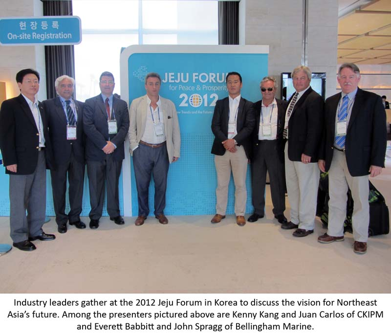 Reps from CKIPM Marine Group and Bellingham Marine present at annual Jeju Forum