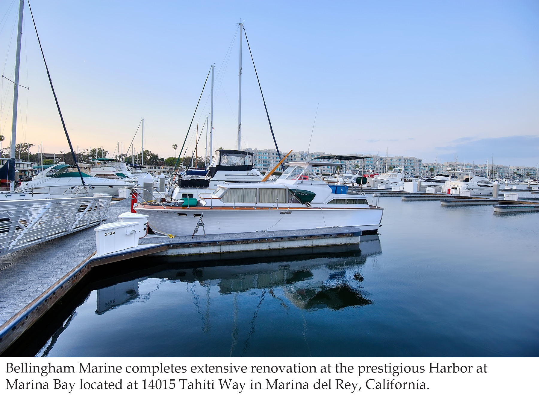 New concrete docks at Harbor at Marina Bay