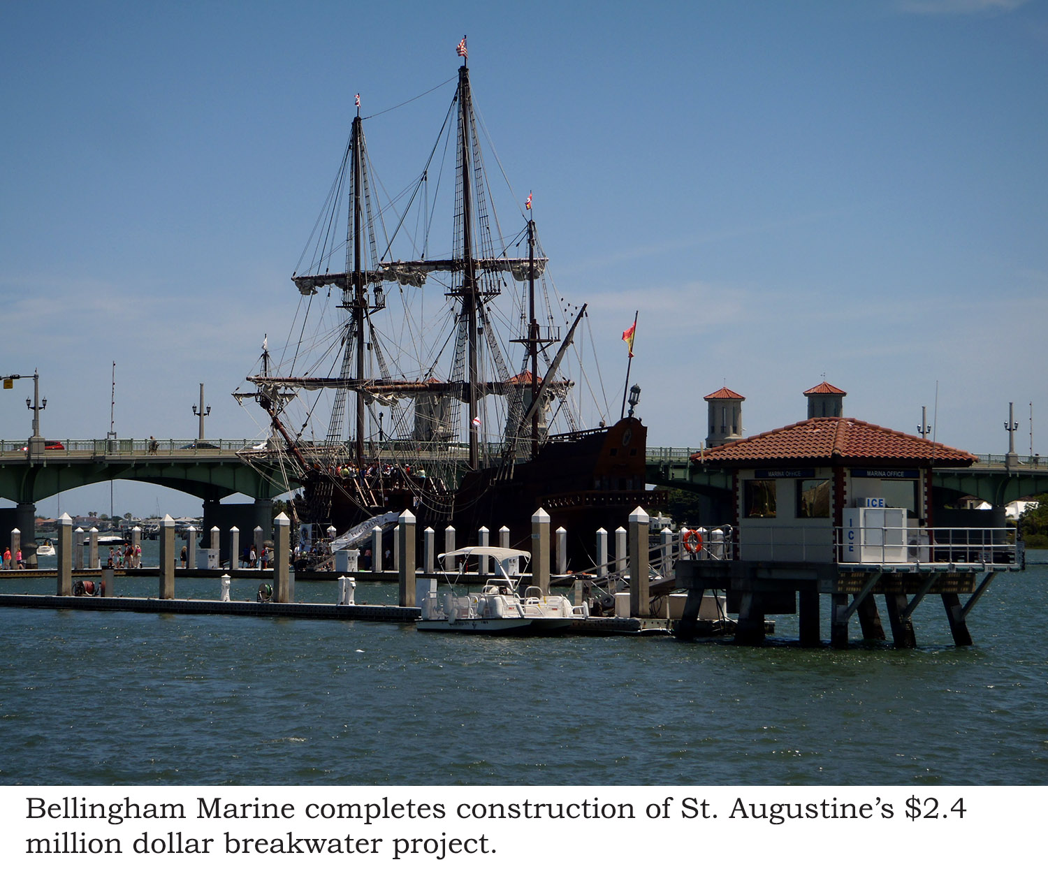 St. Augustine's floating wave attenuator