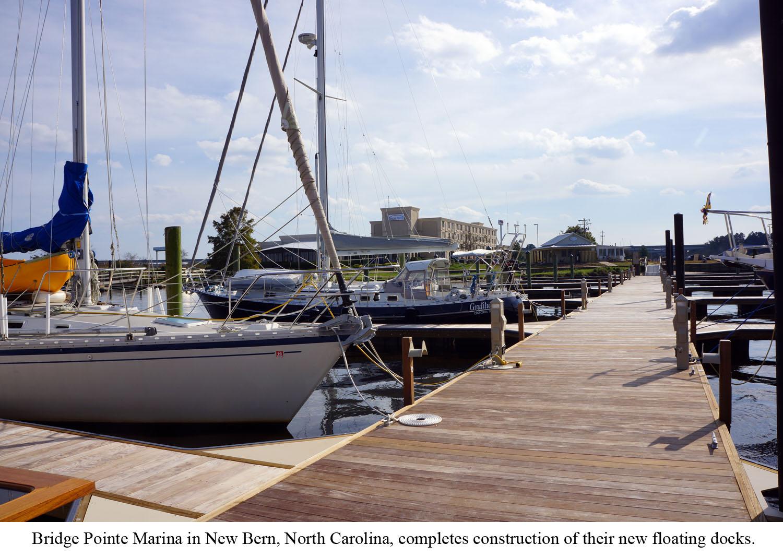 Bridge Pointe Marina's Timber Floating Docks