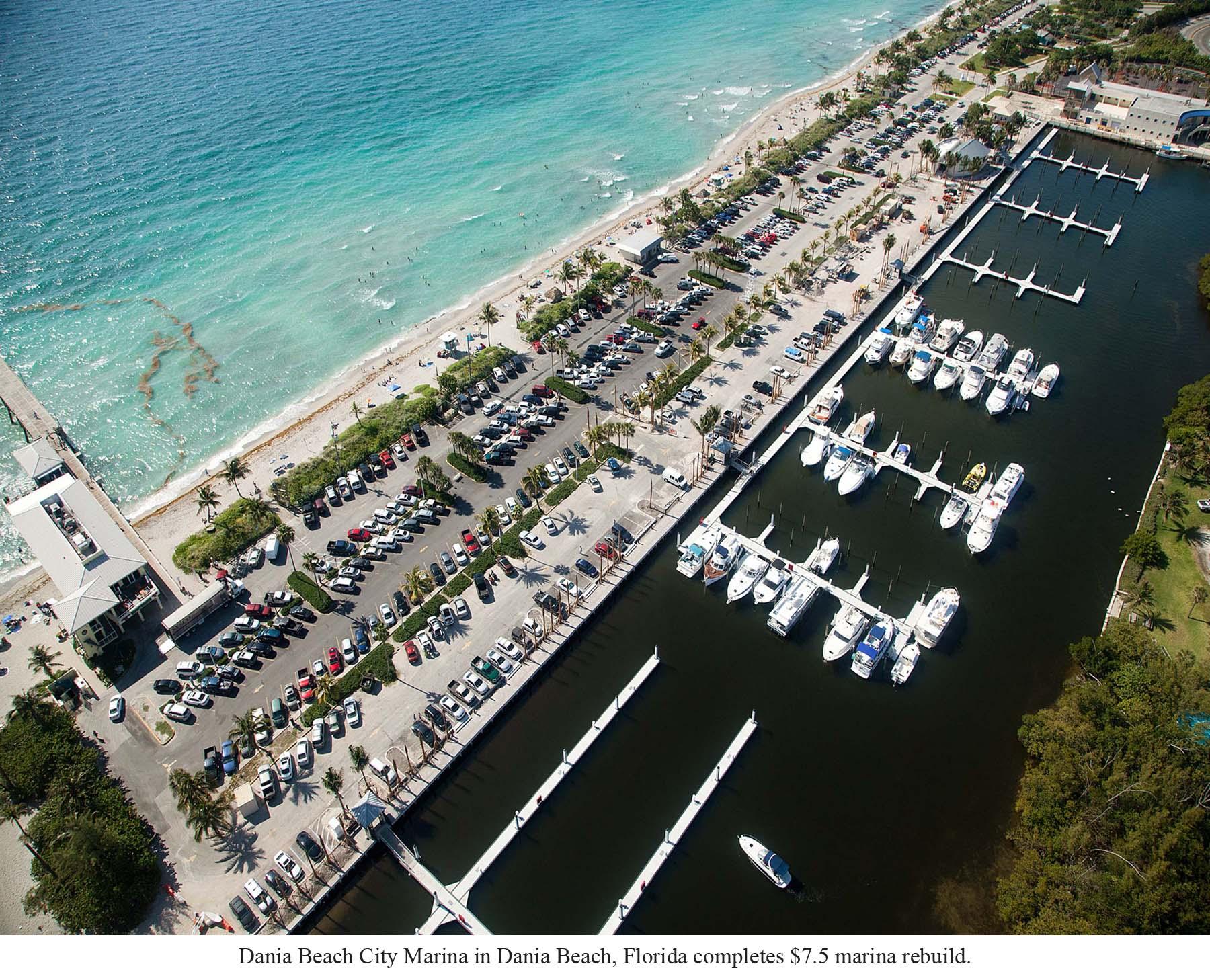 Concrete docks at Dania Beach Marina