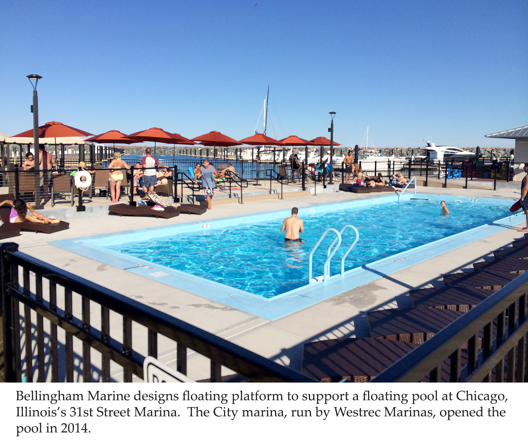 Bellingham Marine designs floating platfrom for floating pool