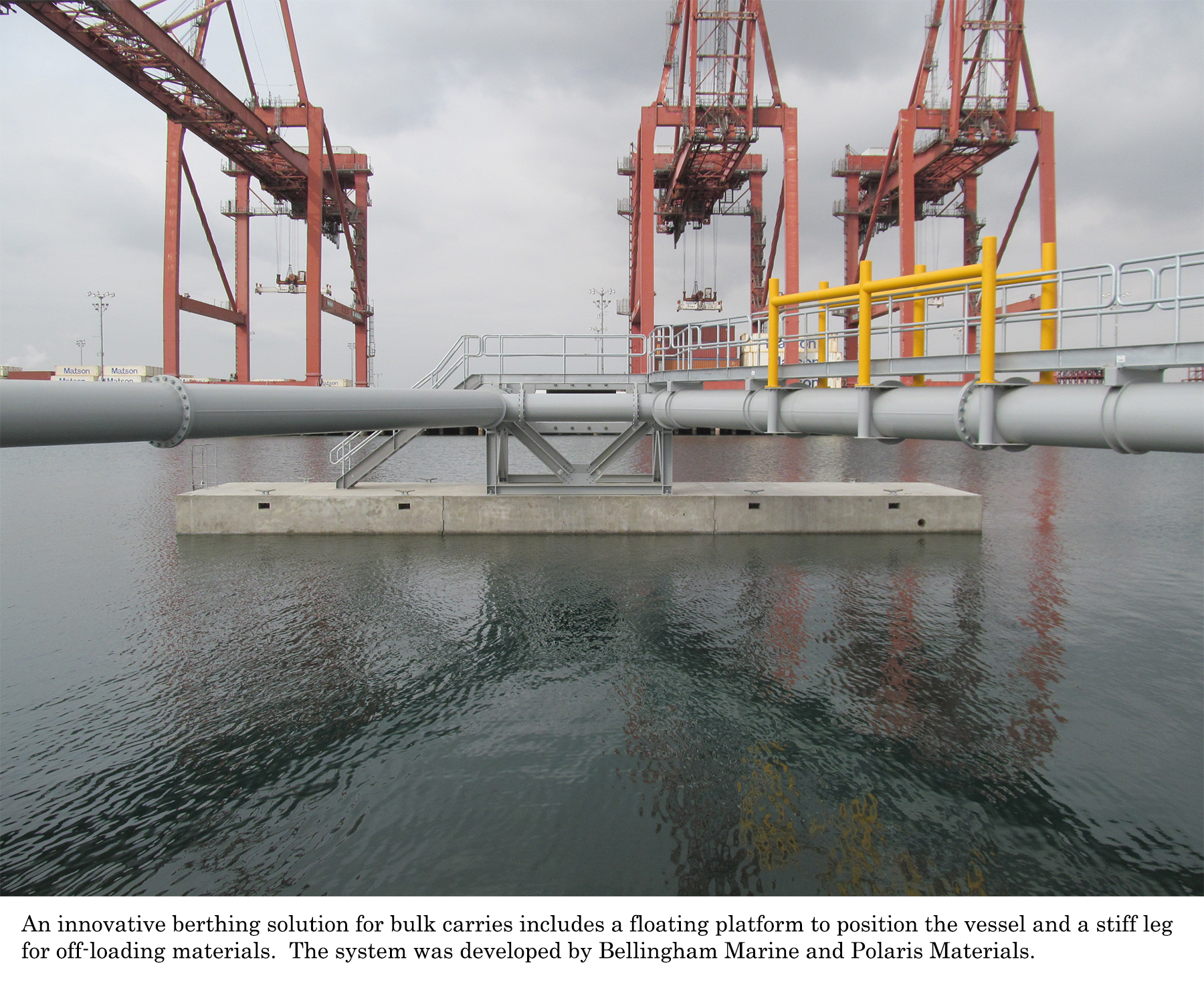 Floating Platform for moorage of bulk carriers