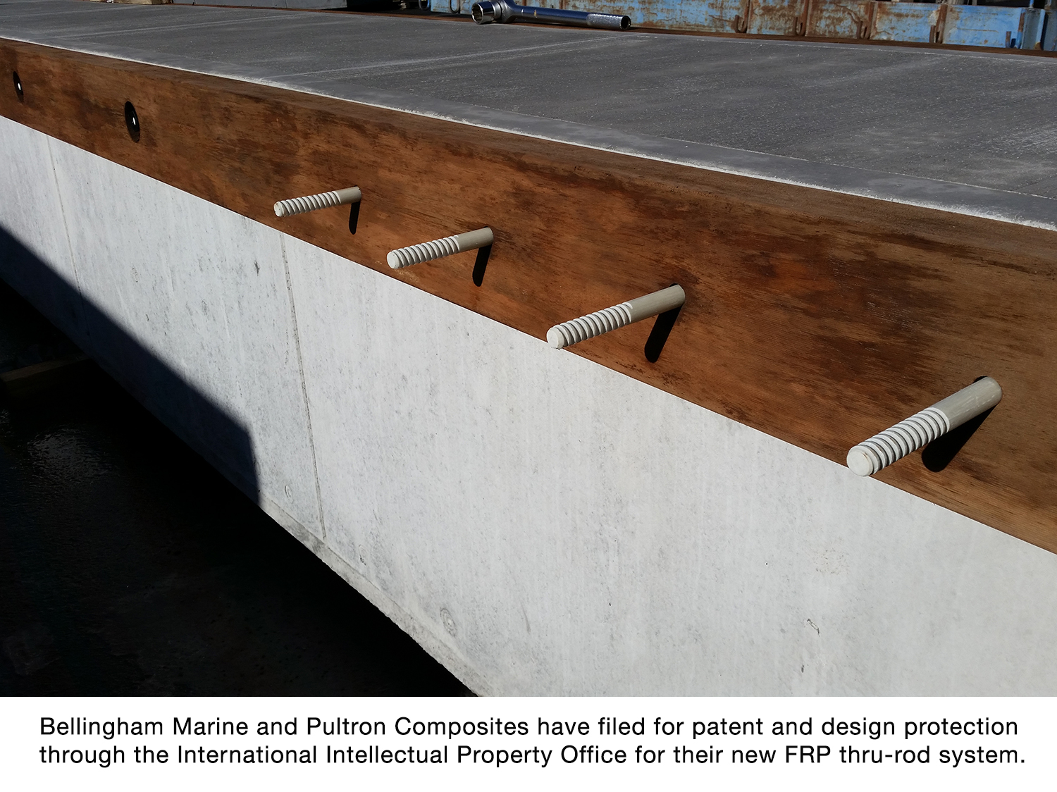 Bellingham Marine announces patent pending status of FRP thru-rods