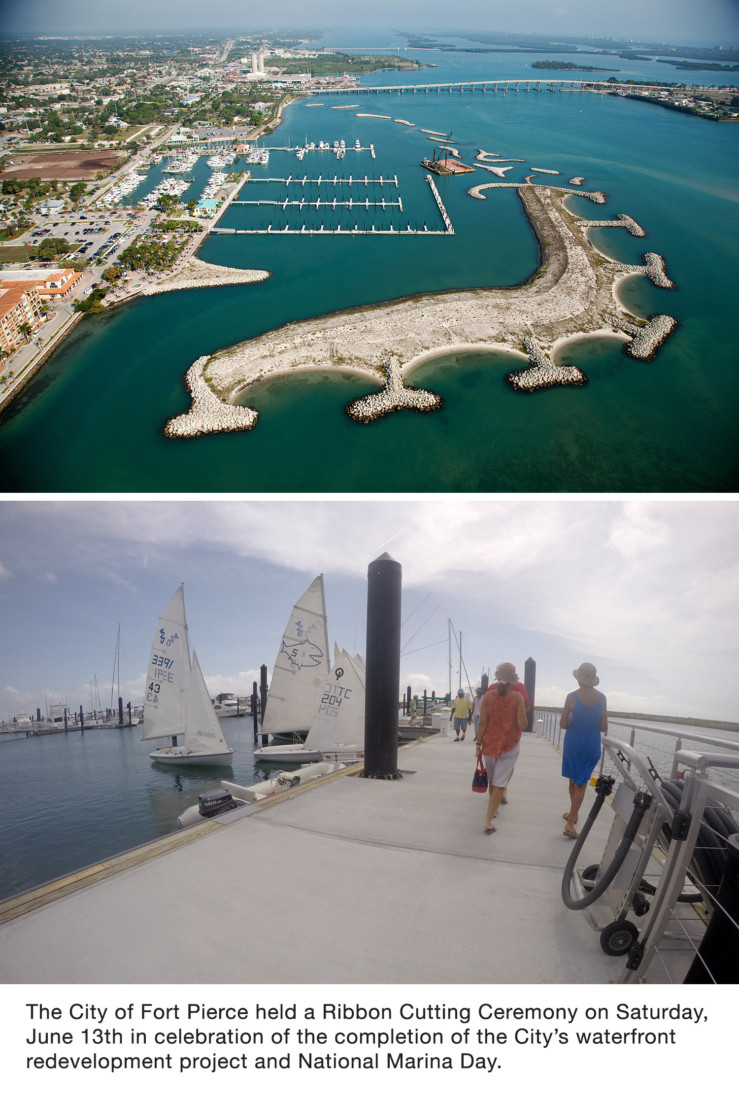 Bellingham Marine constructs new floating docks for the City of Fort Pierce