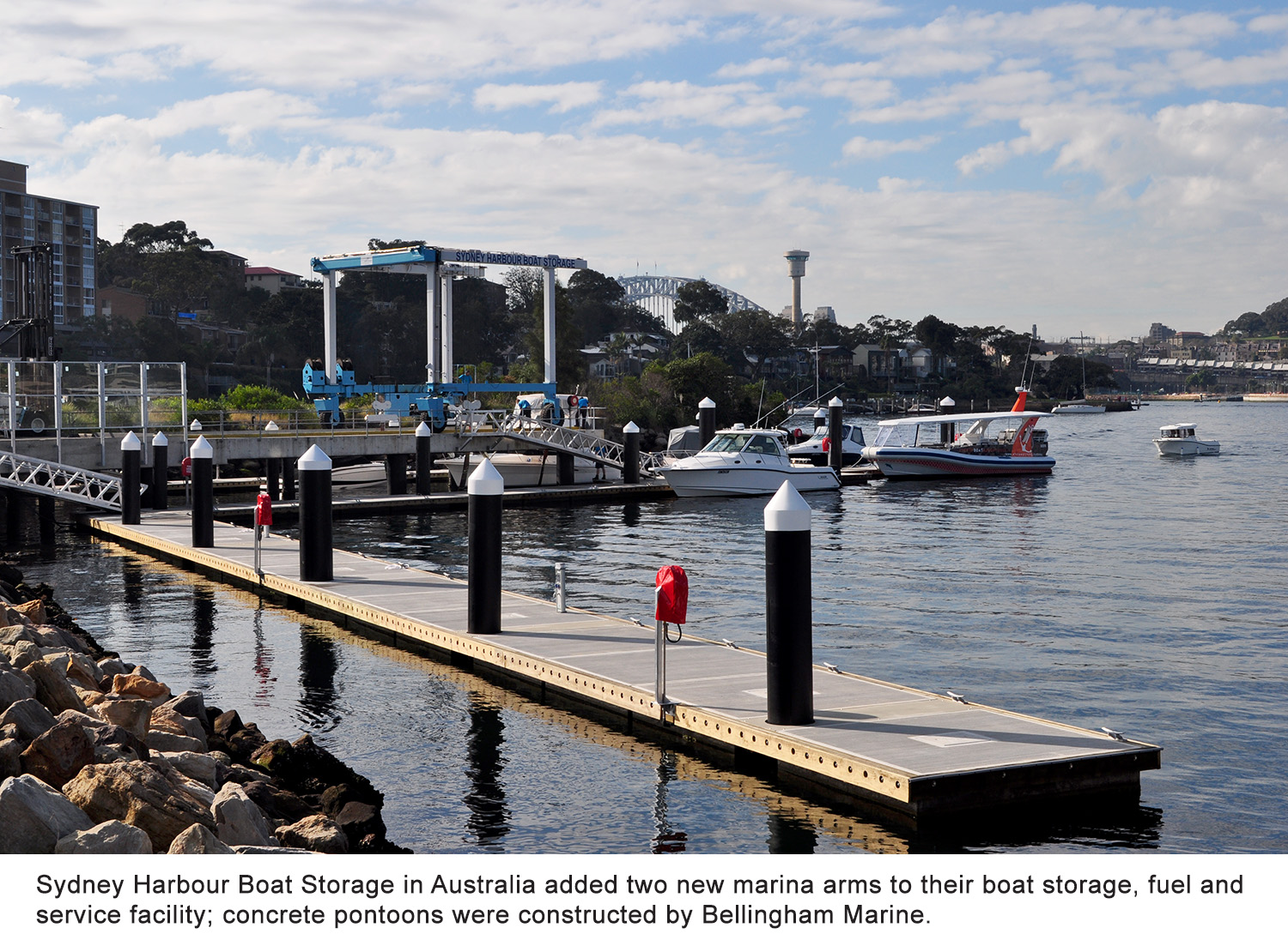 Bellingham Marine builds new concrete pontoons at Sydney Harbour Boat Storage