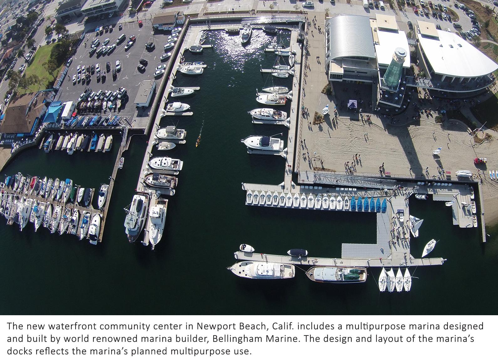 concrete floating docks by Bellingham Marine were installed at Marina Park