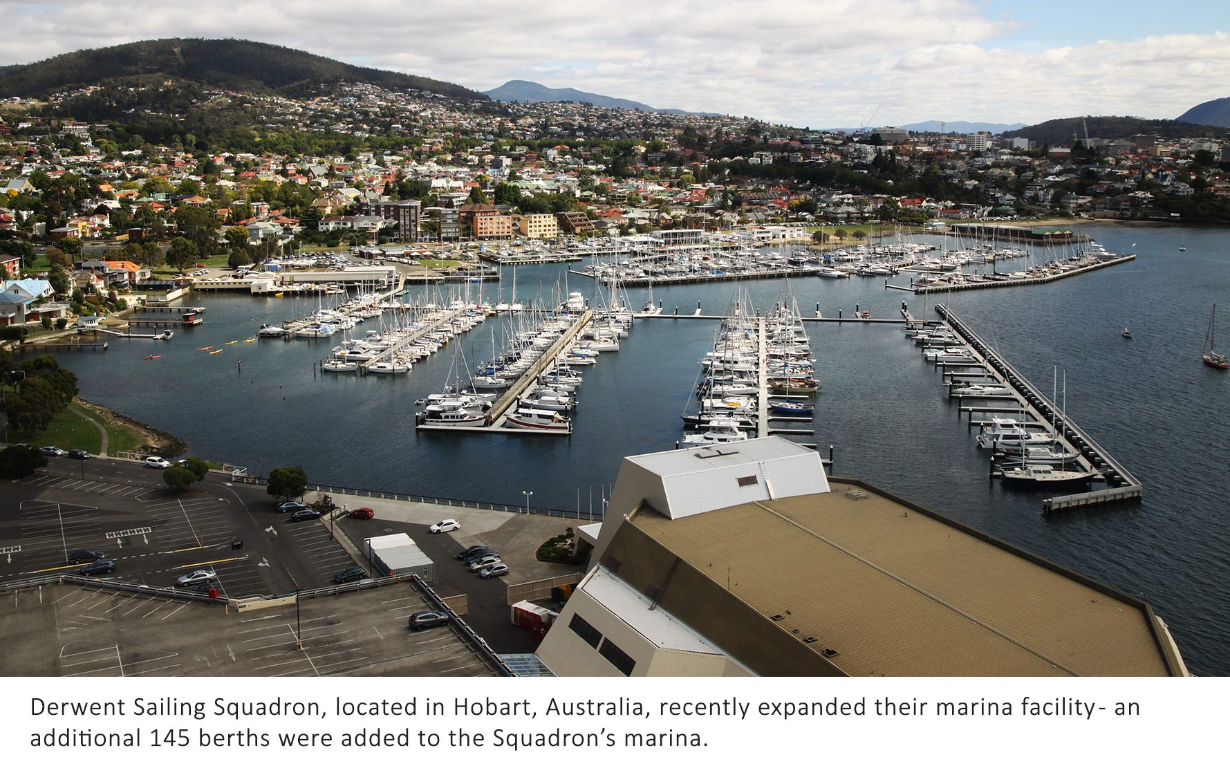 Bellingham Marine expands the marina at Derwent Sailing Squadron with concrete pontoons