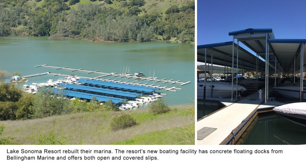Lake Sonoma Resort get a new marina from Bellingham Marine