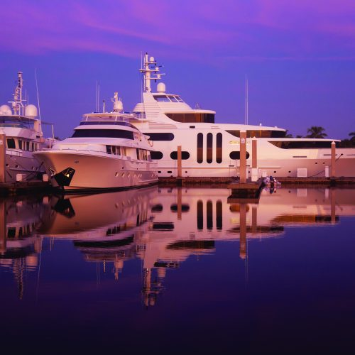 The marina has 250 slips, serving vessels up to 300 ft.