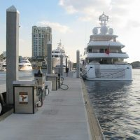 Mixed-use attenuator - fuel dock, transient moorage + wave protection