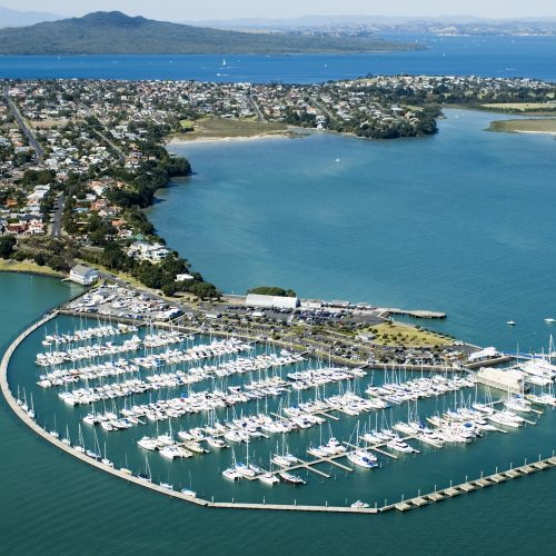 The marina is surround by a Unifloat concrete breakwater.