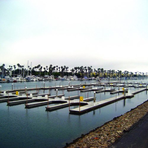 The marina has 157 slips able to accommodate boats up to 59 ft. in length.