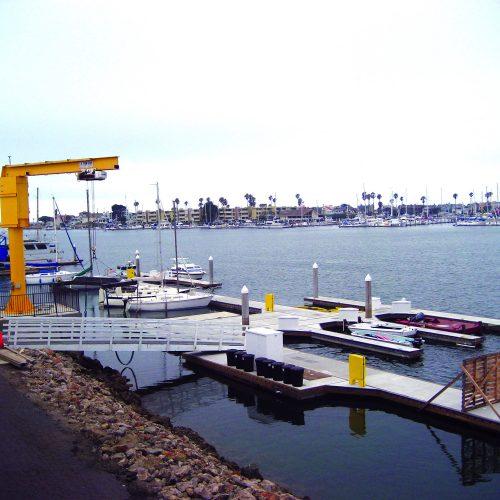 ADA compliant boat ramp.
