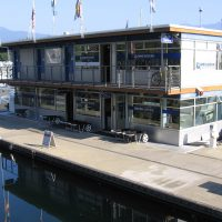 2-story floating building at Coal Harbour