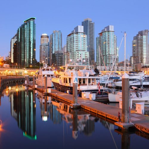 Coal Harbour has 240 slips and can accommodate vessels up to 100m.