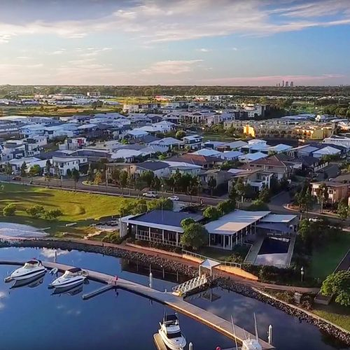 Cova Marina is the focal point of a luxury resort-style community on Australia's Gold Coast.