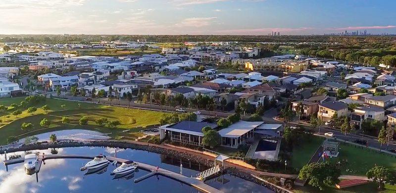 Cova Marina is the focal point of a luxury resort-style community on Australia's Gold Coast.