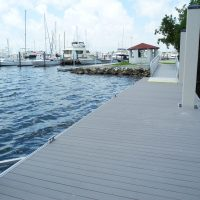 Walkway section on aluminum dock