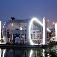 Structural platform for floating building