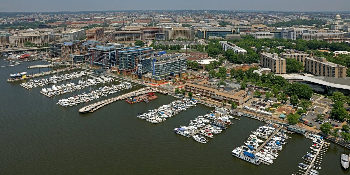 The Wharf District includes new marinas, public piers and launch docks