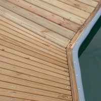 Fanned deck boards on Unideck timber dock