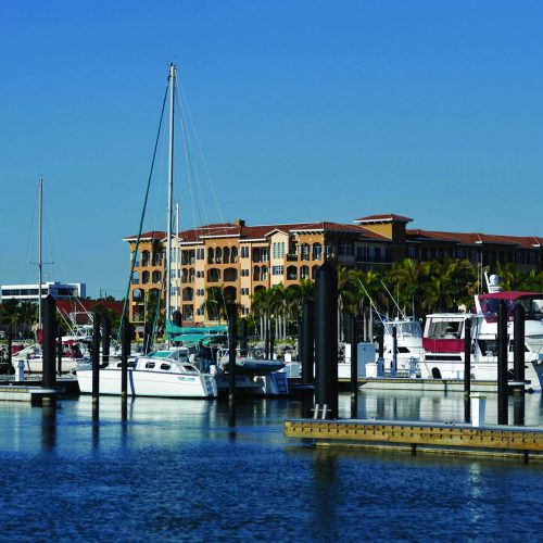 The marina has 137 slips and was replaced after being destroyed by a hurricane in 2004.