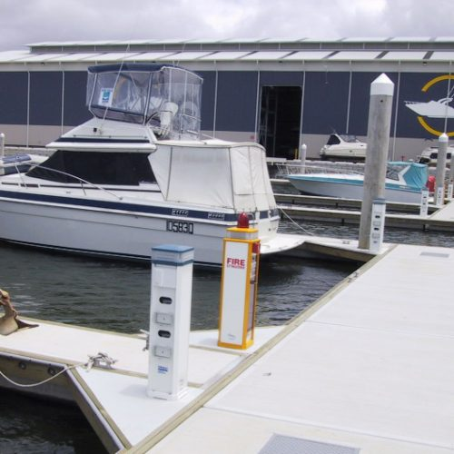 The marina chose Unifloat concrete pontoons for all wet berths.