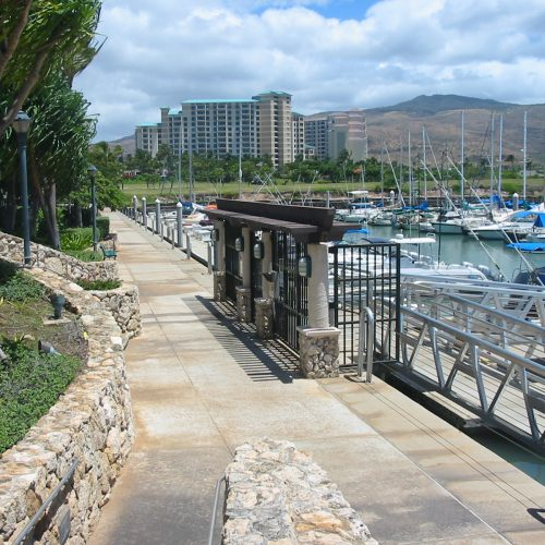 Custom entrance gate to the Ko Olina Marina