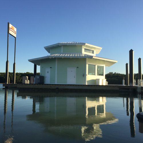 Floating marina store.