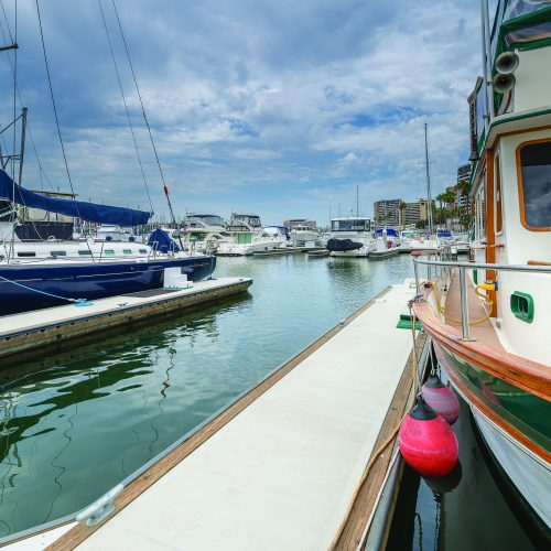 The marina features over 300 slips up to 115 ft. in length.