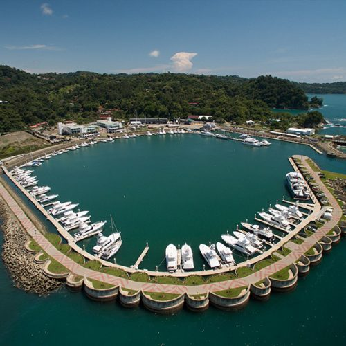 The marina can accommodate superyachts up to 200 feet in length.