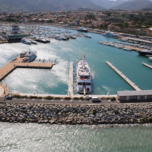 Smaller slips were demolished to make room for 7 superyacht berths.