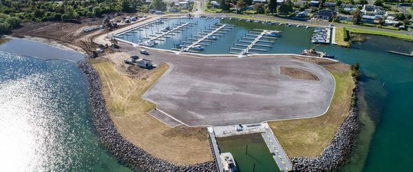 Motuoapa Marina's docks are from Bellingham Marine in New Zealand