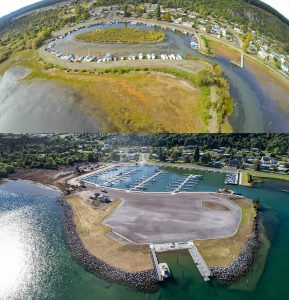 Motuoapa Marina Before and After