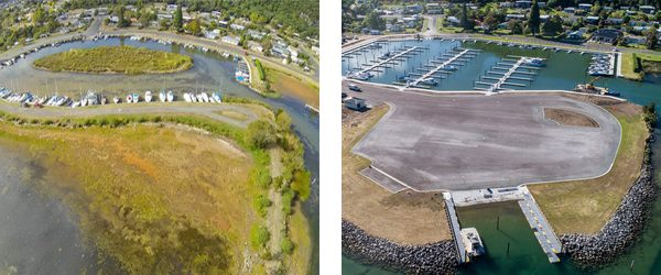 Before and after of Motuoapa Marina