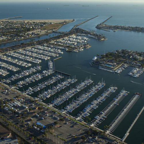 Alamitos Bay Marina features 1,967 slips, the largest west of Chicago.