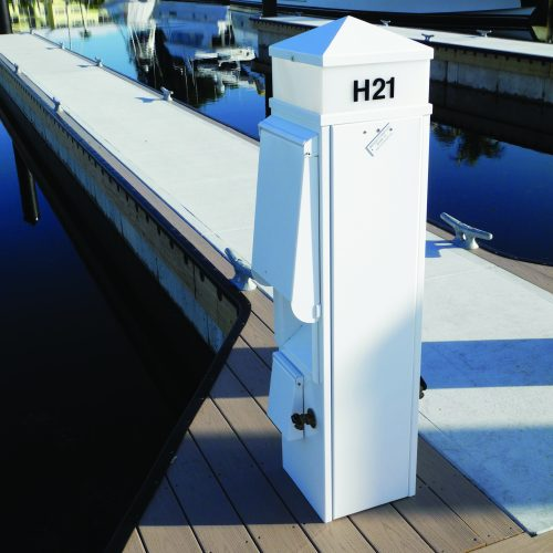 Composite trim on Unifloat docks.