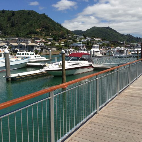 Picton Marina has 254 berths that include pile berths, a catwalk, a town wharf and ferry terminal jetties.