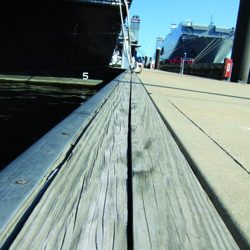 Port Covington has 28 slips for vessels up to 60 ft. and side-tie moorage up to 250 ft.