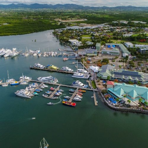 The picturesque marina is the cultural and commercial heart of Denarau Island.