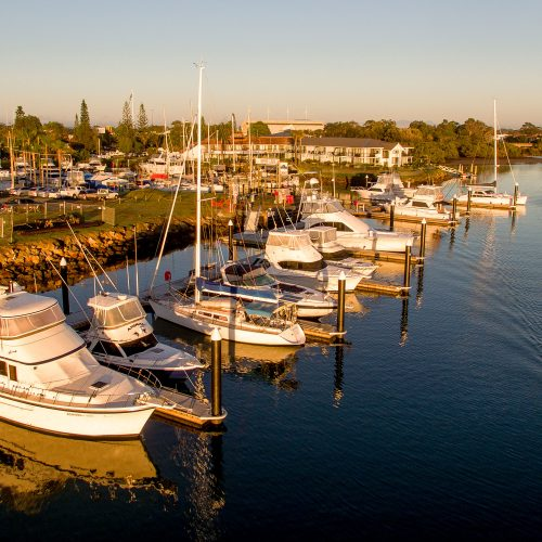 The marina is located in one of the most popular tourist destinations in Australia.