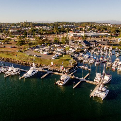 Port Macquarie Marina offers berths up to 25m